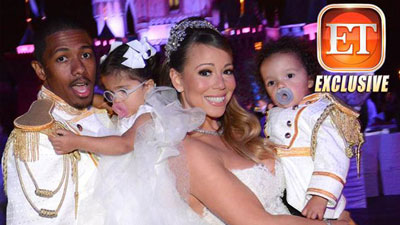 Nick Cannon, Mariah Carey and children in royal gear
