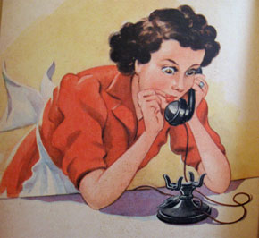 Mom takes a very upsetting phone call