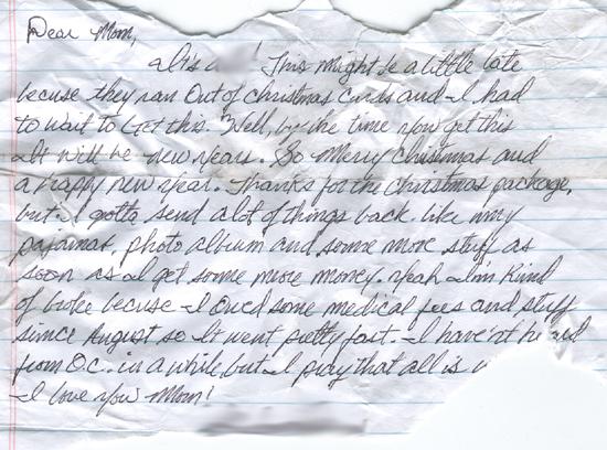 December 14, 2006   Found Christmas Letter