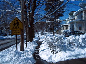 Snowy street (Click to enlarge)