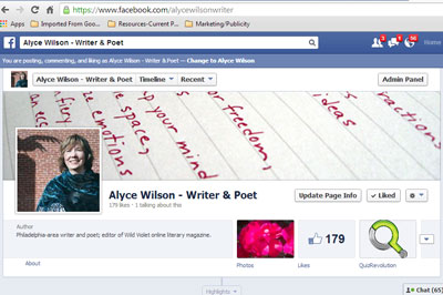 Alyce's Facebook page