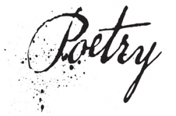 Poetry in ink with spatter